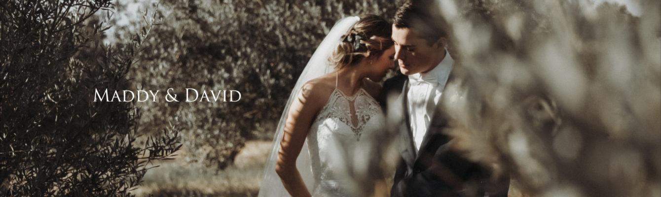 Wedding highlights film of Maddy & David