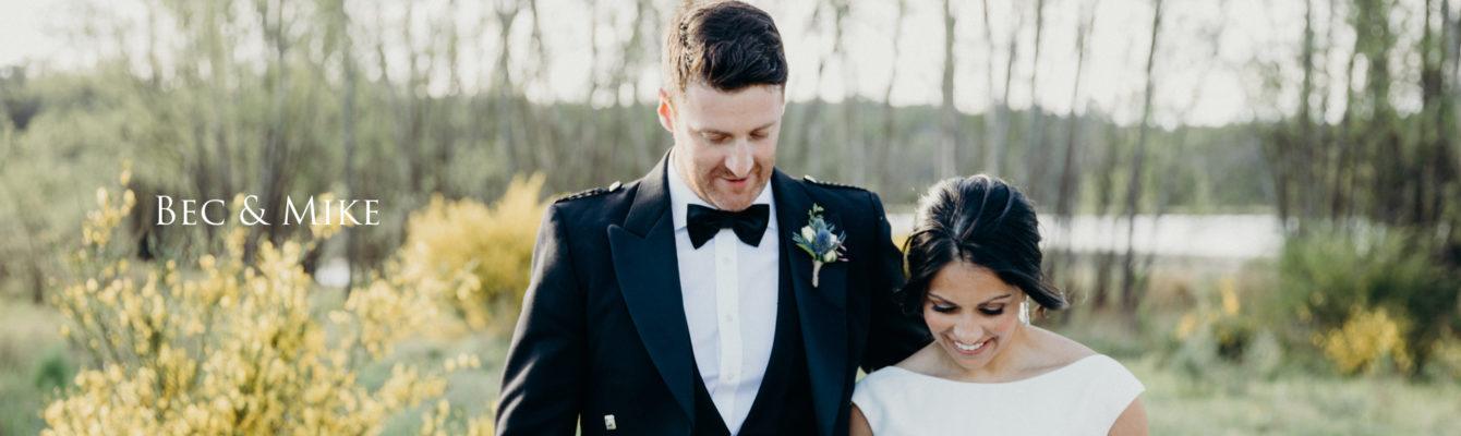 Wedding highlights film of Bec & Mick
